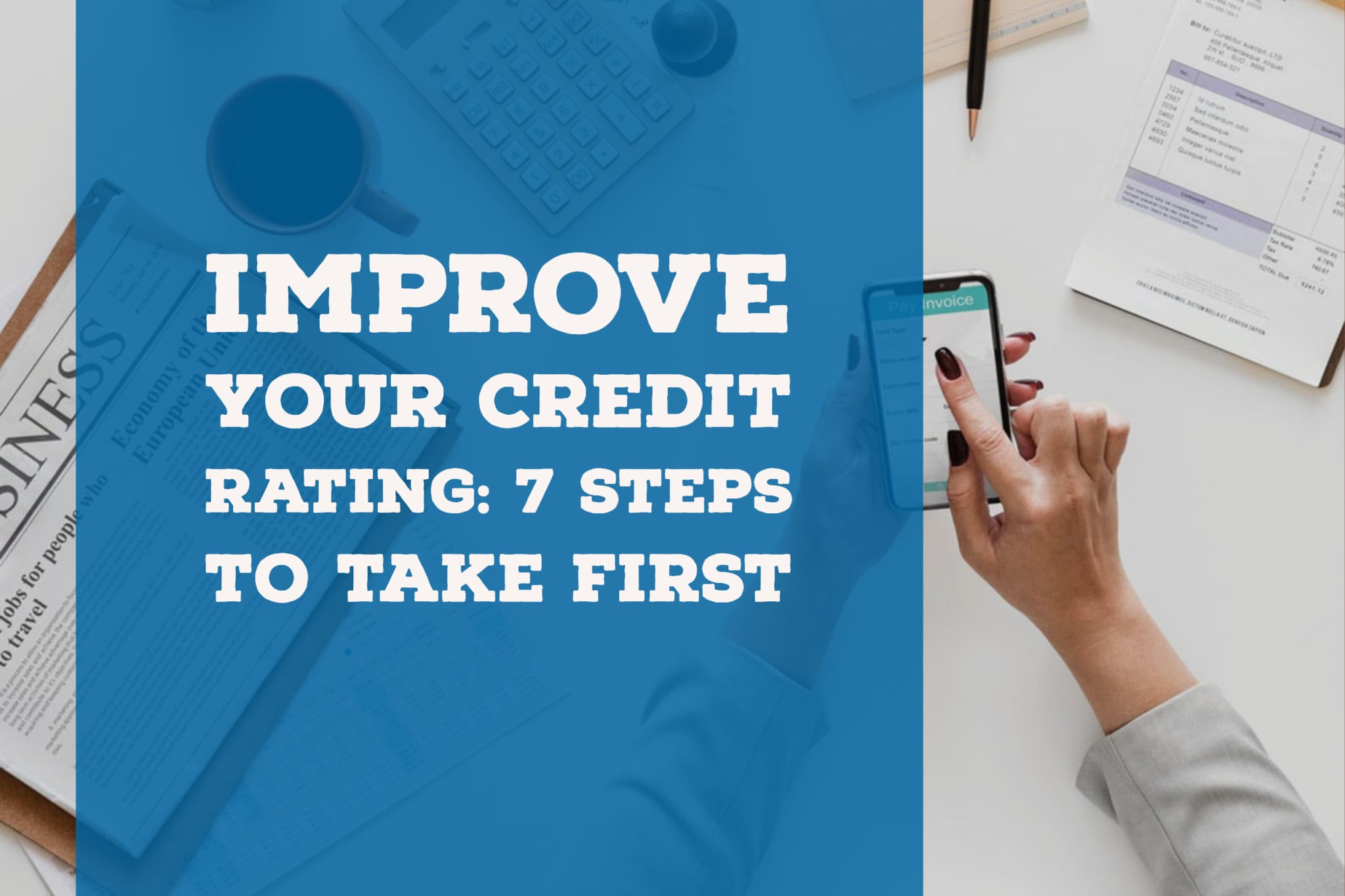 improve your credit score steps